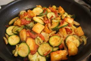 Fried Leftover Potato & Vegetables