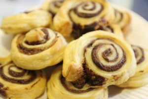 Puff Pastry & Nutella Swirls